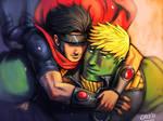 Hug -  Wiccan and Hulkling