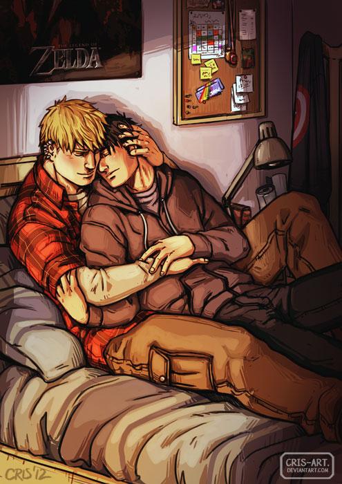 Cuddling somewhere by Cris-Art