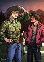Cowboy AU by Cris-Art