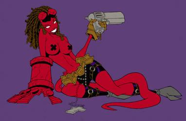 A sexy Hellgirl by Zabalou
