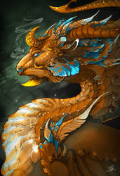 Gold dragon by l-Hyden