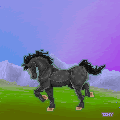 landscape pixel with a horse by tinmoonlittle