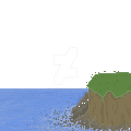 Cliff And Sea pixel by tinmoonlittle