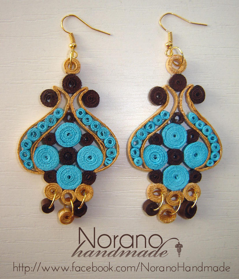 Quilling Papers Earrings: Turkish Tulip By Norano-handmade On
