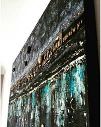 Acrylic /mixmedia 90 x 150 cm
