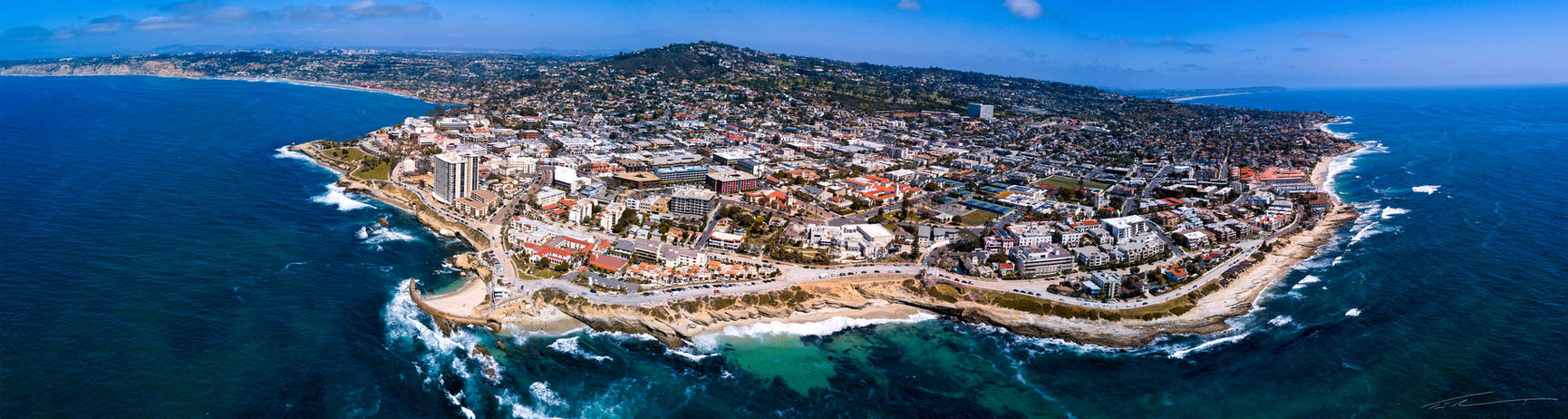 La Jolla Cove, San Diego, California USA - Drone by timothylgreen