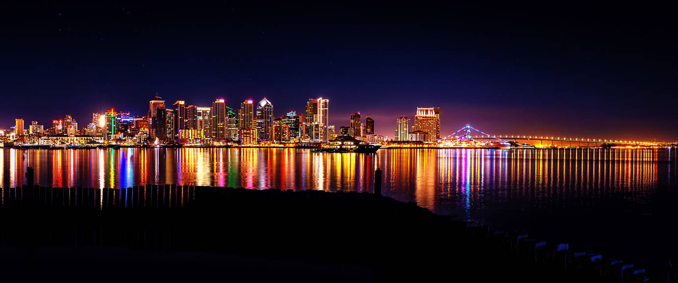 Downtown San Diego California from Harbor Island by timothylgreen