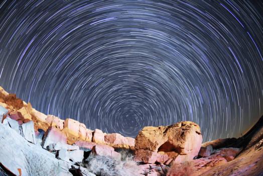 Star Trail  Ramon Crater , Israel
