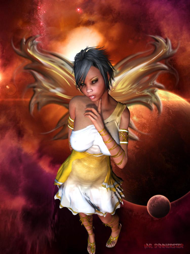 Ebony Angel by MrSynnerster