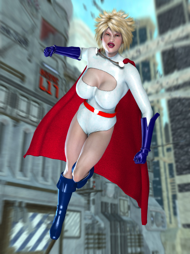 Power Girl by MrSynnerster