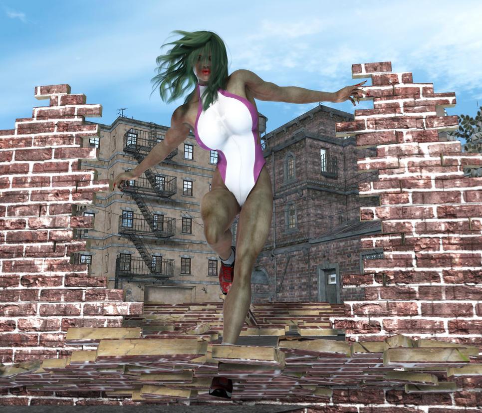 She Hulk by MrSynnerster
