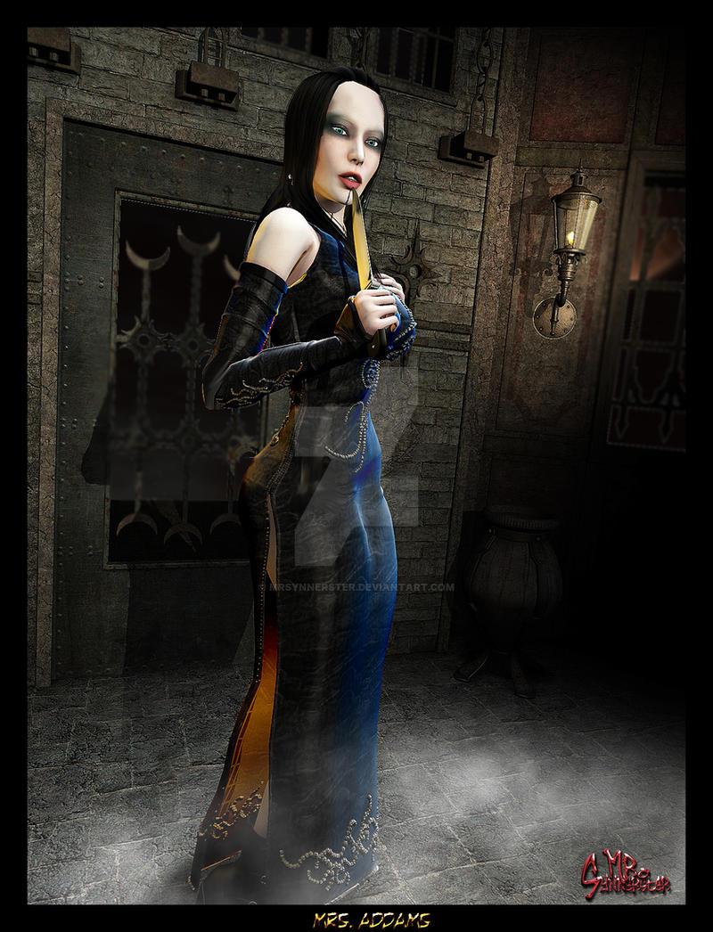 Mrs. Addams by MrSynnerster