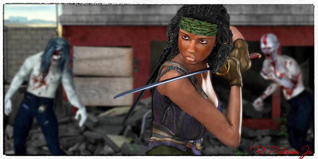 Michonne by MrSynnerster