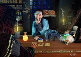 Tarot Reader by MrSynnerster