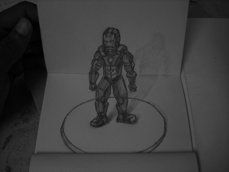 3D Drawing - Iron Man Custom Suit. by Bboy4T7 on DeviantArt