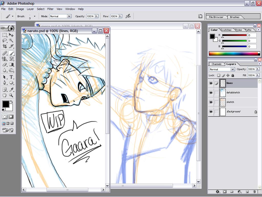 NarutoGaara WIP :new 3-07-07: by SamRH