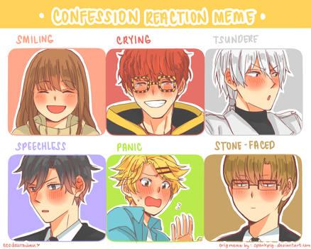 mystic messenger confession reaction