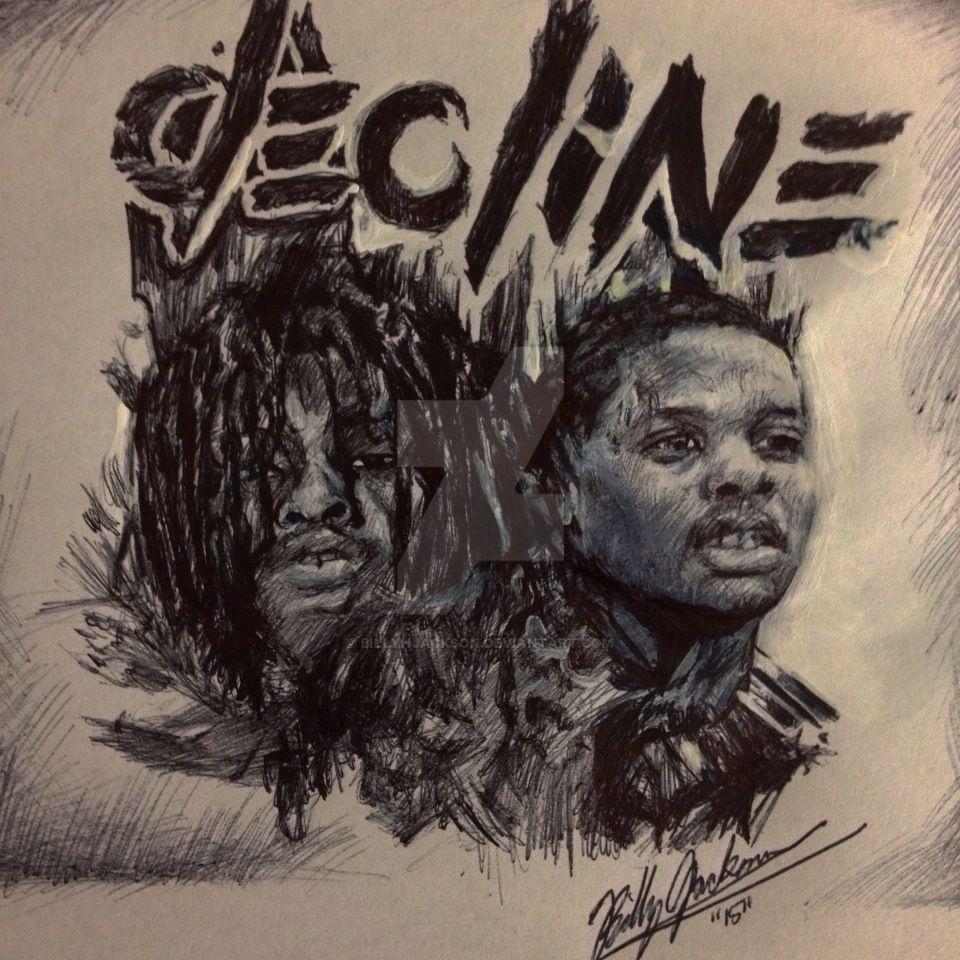 ... Chief Keef + Lil Durk Portrait From Album Decline by billyhjackson