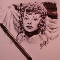 Lucille Ball by billyhjackson