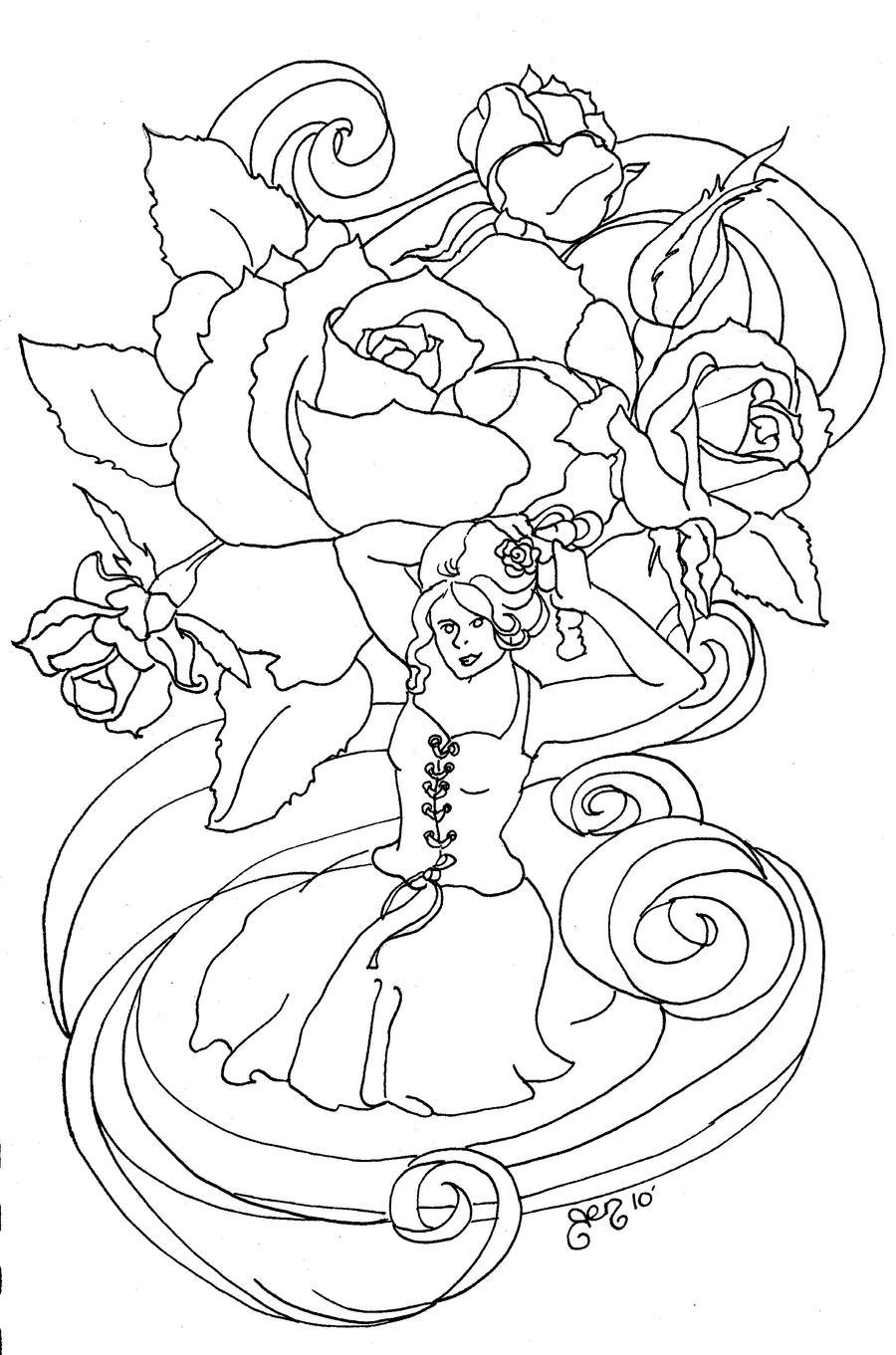 Rose Symphony by astraldreamer
