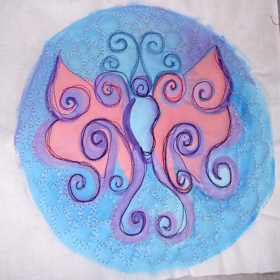Textile Butterfly by astraldreamer
