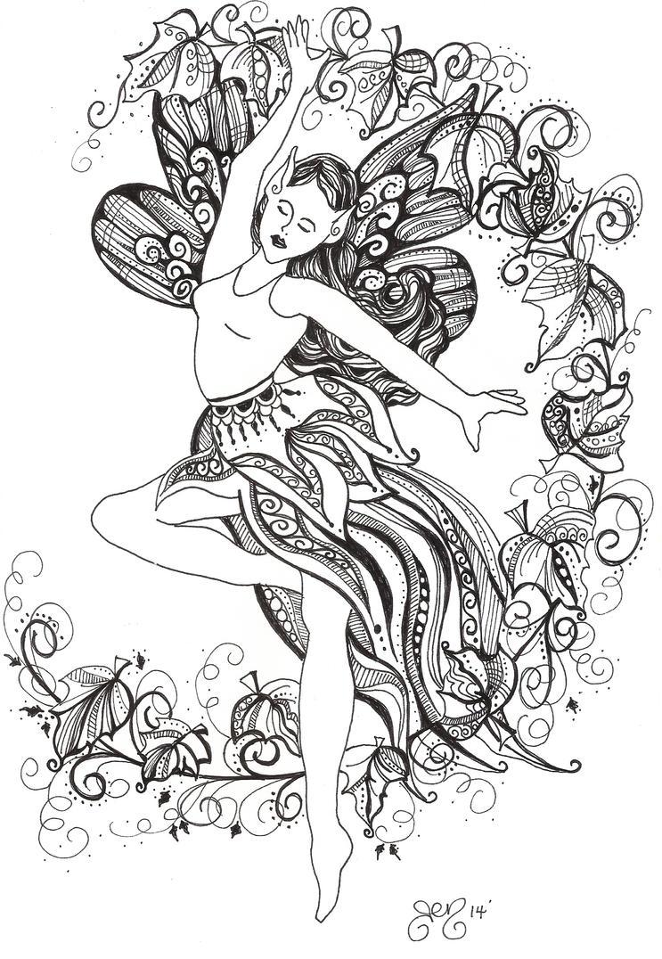 Autumn Dancer by astraldreamer