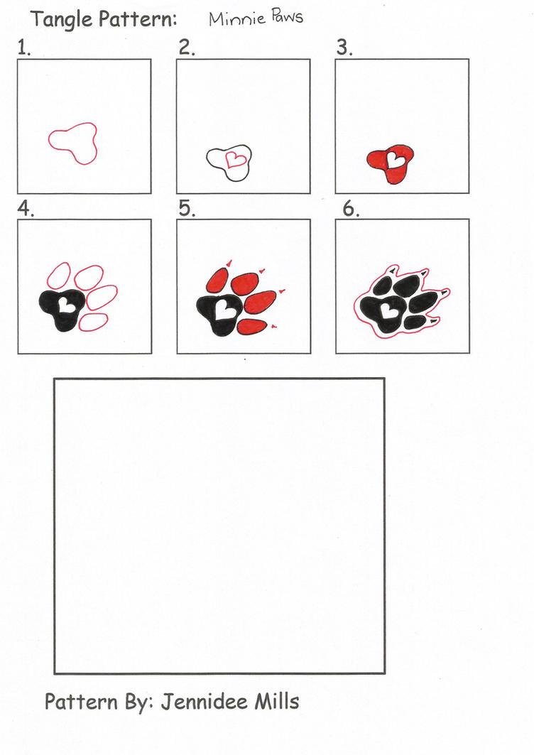 MinniePaws Pattern by astraldreamer