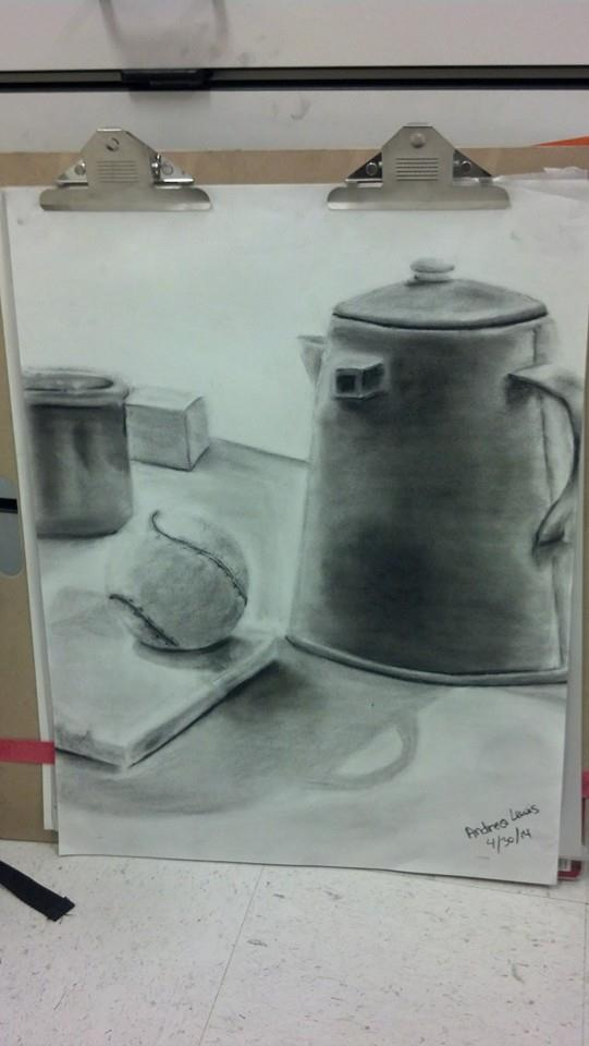 First Charcoal Drawing by fruitloopsindrea