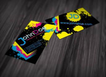 Splattered Ink Business Card