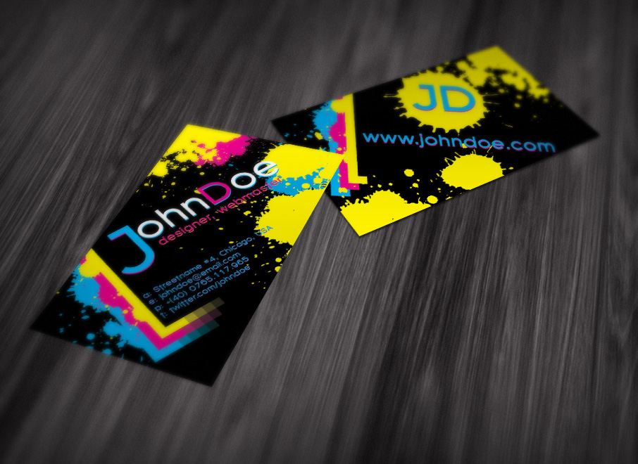 Splattered Ink Business Card by CucuIonel
