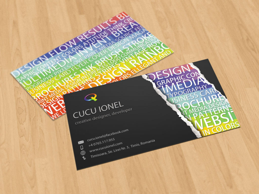 Creative Business Card by CucuIonel on DeviantArt