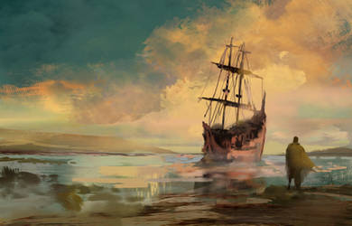 Ghostship sailing