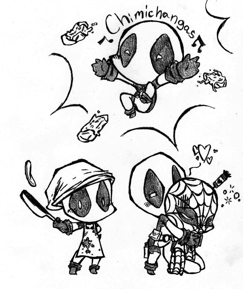 Mini deadpool coloring pages