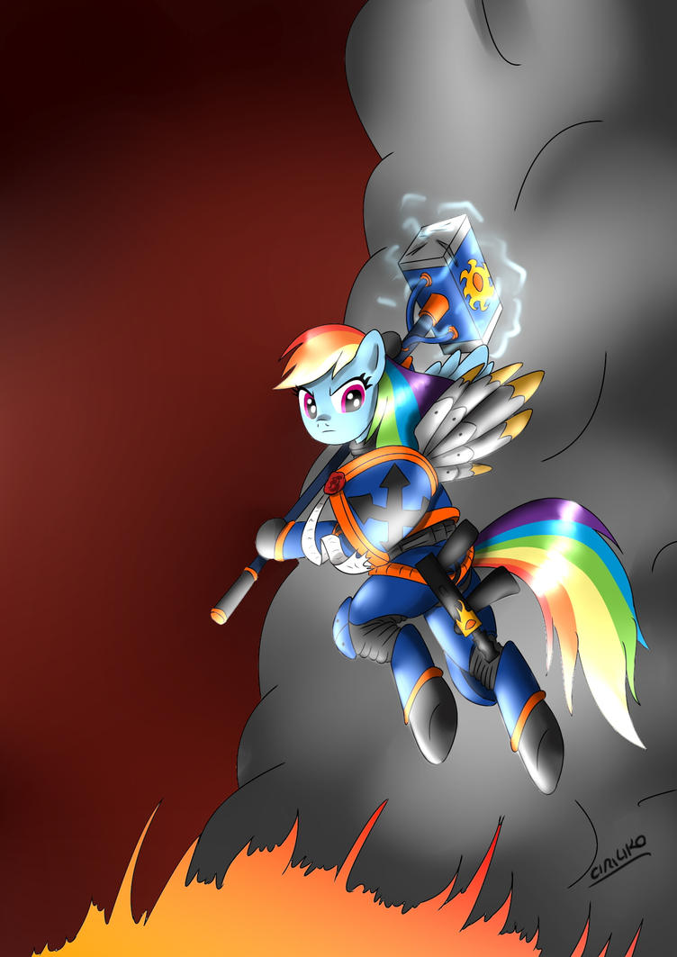 Rainbow Dash The Hammer of Imperium by CIRILIKO