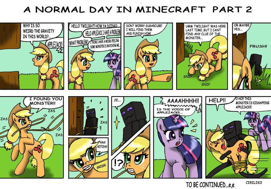 Normal day in minecraft part 2 by ciriliko