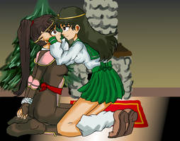 Sango and Kagome colored version by Malroth00