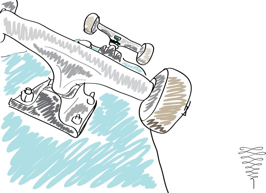 Skateboard Sketch Stock Photography - Image: 24689842