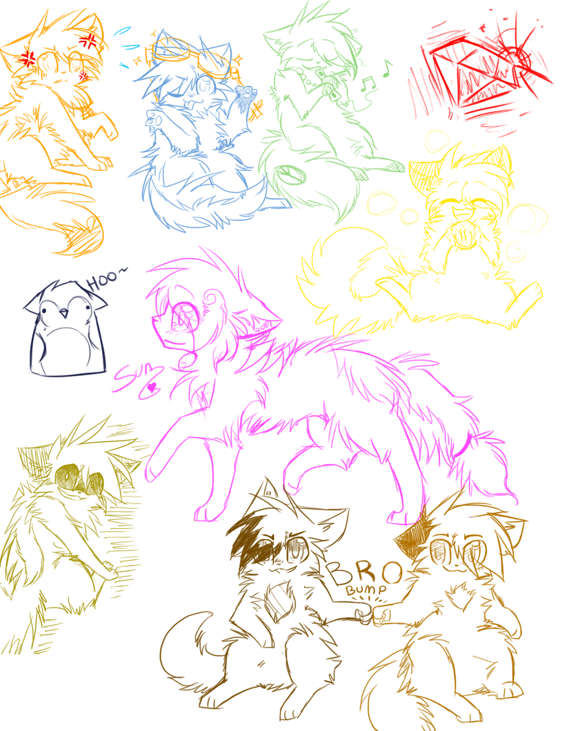 PG doodles by Yirina