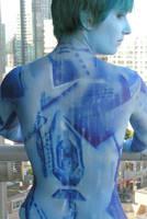 Halo: Cortana Bodypaint by Fillabula