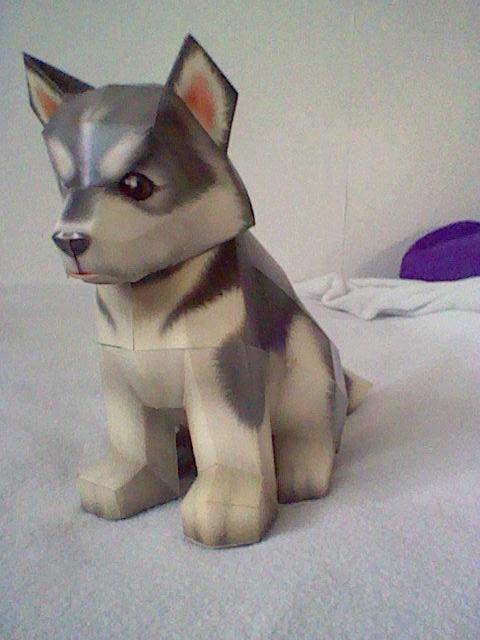 Papercraft Puppy by Digi-Elf