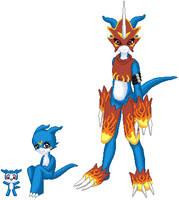 Digimon pixels by Digi-Elf