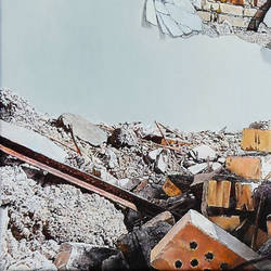 Detail of Ruin 2, oil on canvas