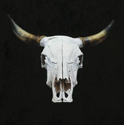 Cow, 2019, 40 x 40 cm, oil on wood