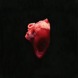 Heart, 2019, 40 x 40 cm, oil on wood