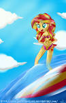 [Commission] -Sunset Surfing-