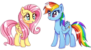 -Flutters and Dashie- [Pixel Art]