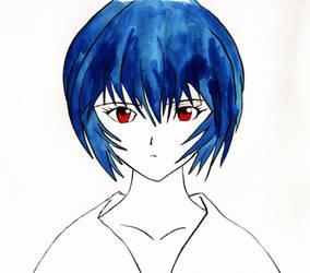 Rei Ayanami by Jompie