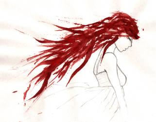 Blood red hair 2 by Jompie