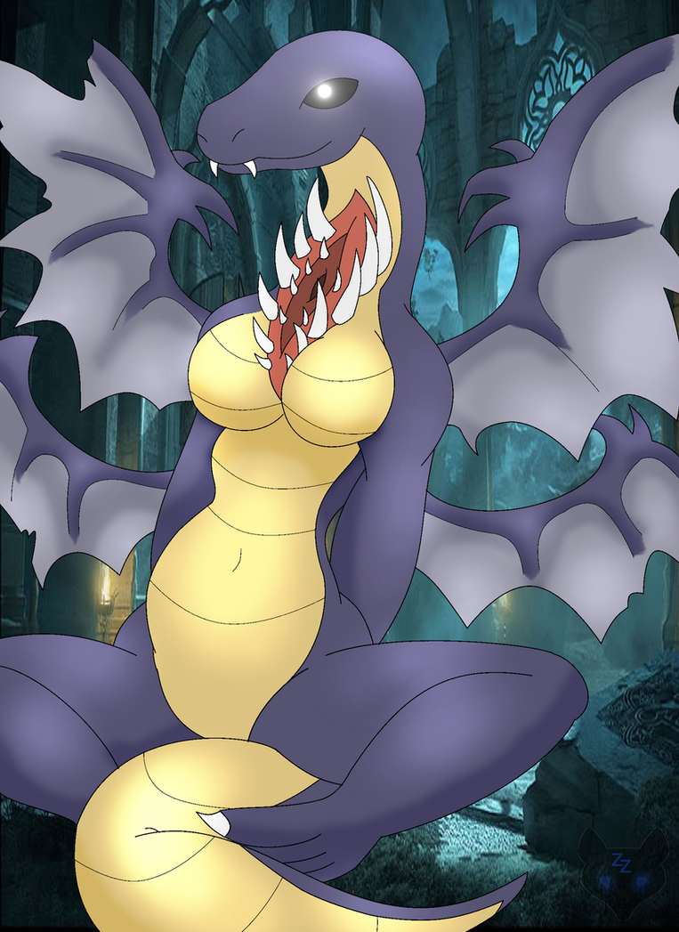 Dark Souls - Gaping dragon by ZinZoa