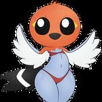 Fletchling pokemorph by ZinZoa